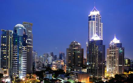 バンコクの夜景のイメージ画像