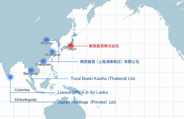海外拠点の案内地図