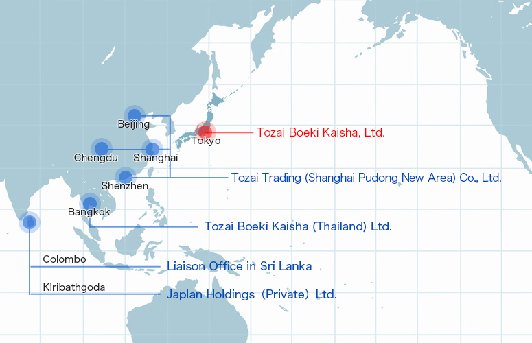 Overseas Offices Map